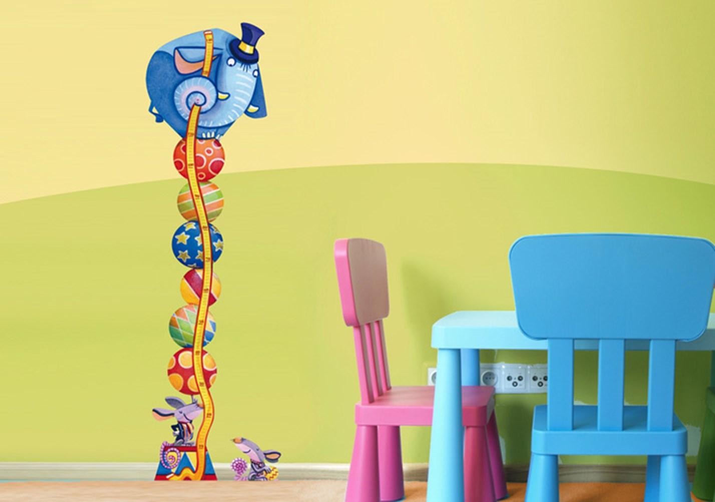 Stickers murali bambini cameretta metrini leostickers - Camerette gioco per bambini ...